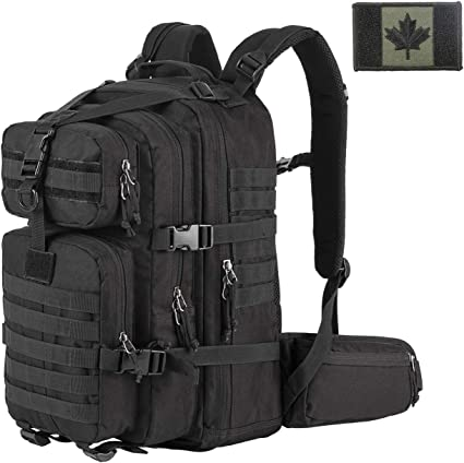 Tactique Sac à dos rouge Bug Out Bag 50 l assaut militaire Armée Molle Randonnée Pack