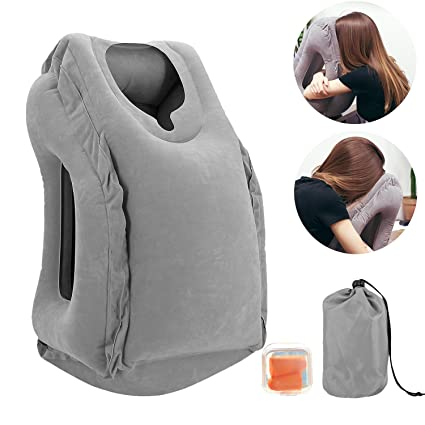 office nap pillow. HOMEER Inflatable Air Travel Pillows Portable Office Nap Neck Pillow Head Body Support Airplane H