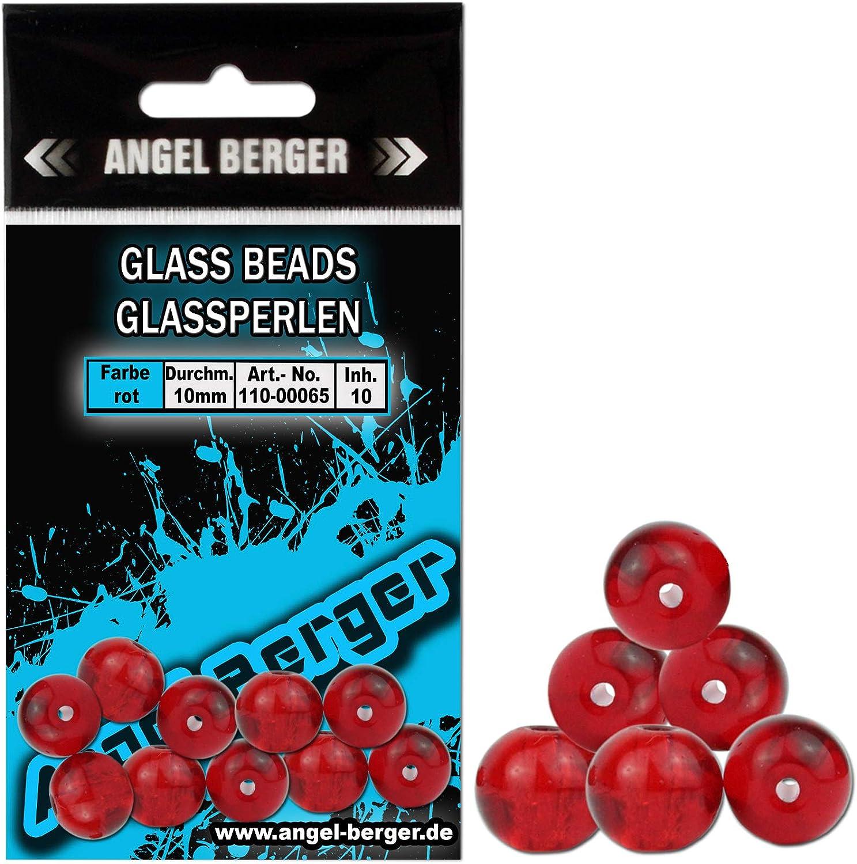 Glasperlen Zum Spinnfischen Spro Glass Beads Perlen aus Glas f/ür Carolina /& Texas Rig Glask/örper Zum Barsch- /& Zanderangeln