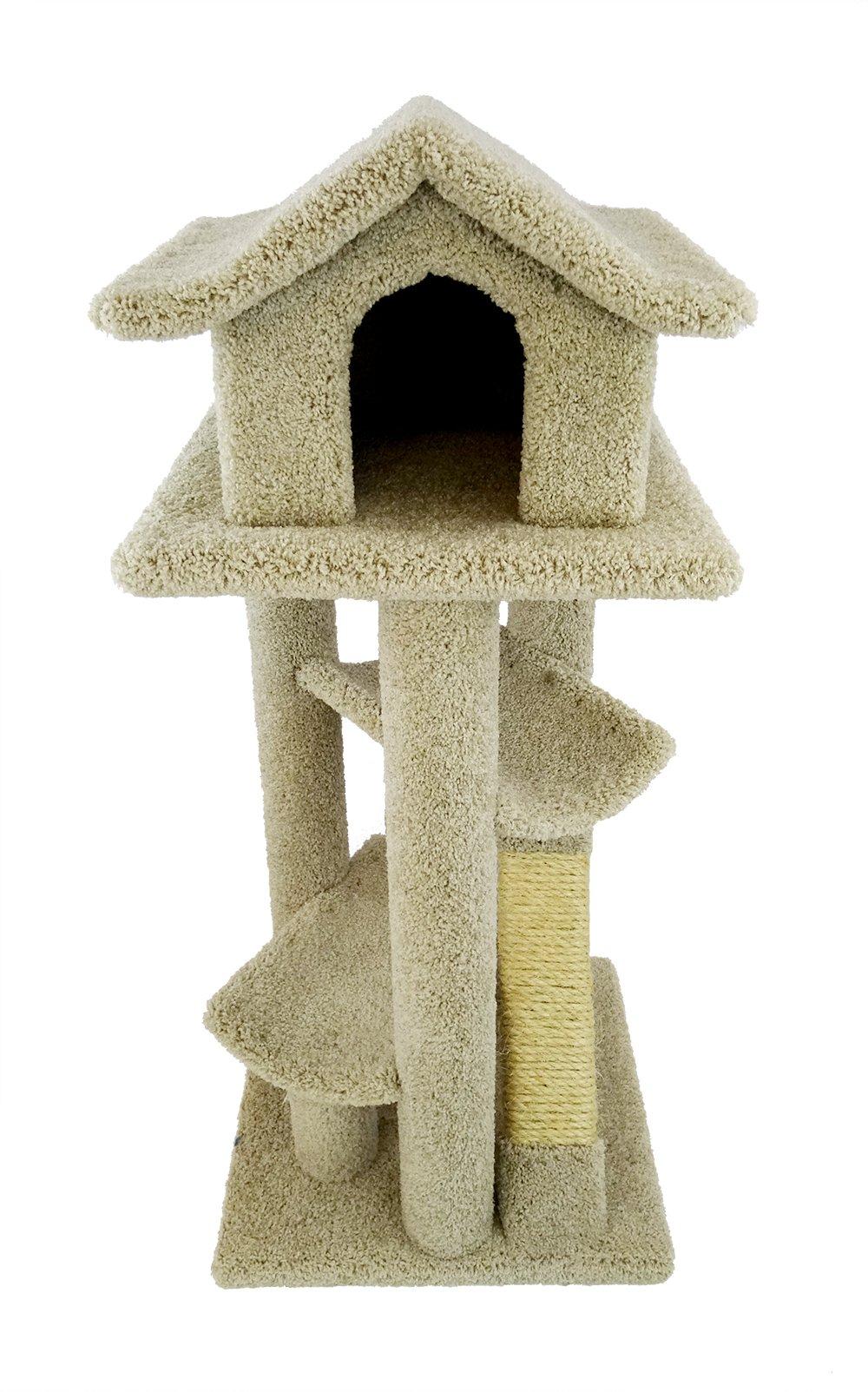 New Cat Condos Premier Large Cat Pagodas Tree, Beige