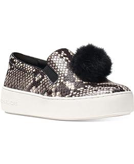 98b17e843b04 Michael Kors Womens Trent Slip On Leather Low Top Slip On Fashion Sneakers