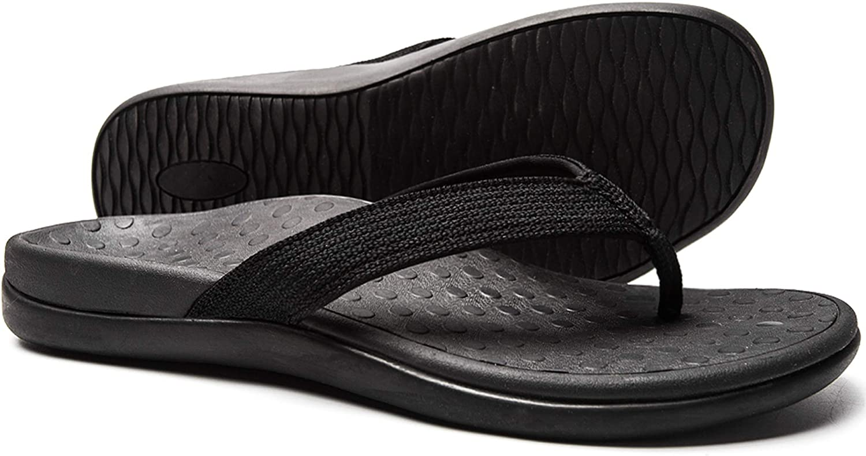 | LLSOARSS Plantar Fasciitis Feet Sandal with Arch Support - Best Orthotic flip Flops for Flat Feet,Heel Pain- for Women | Flip-Flops
