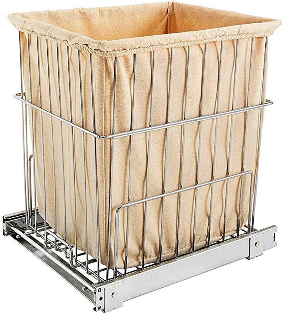 Rev-A-Shelf RSHRV.1520 S CR 19.38 in. H Wire Pullout Hamper-Chrome