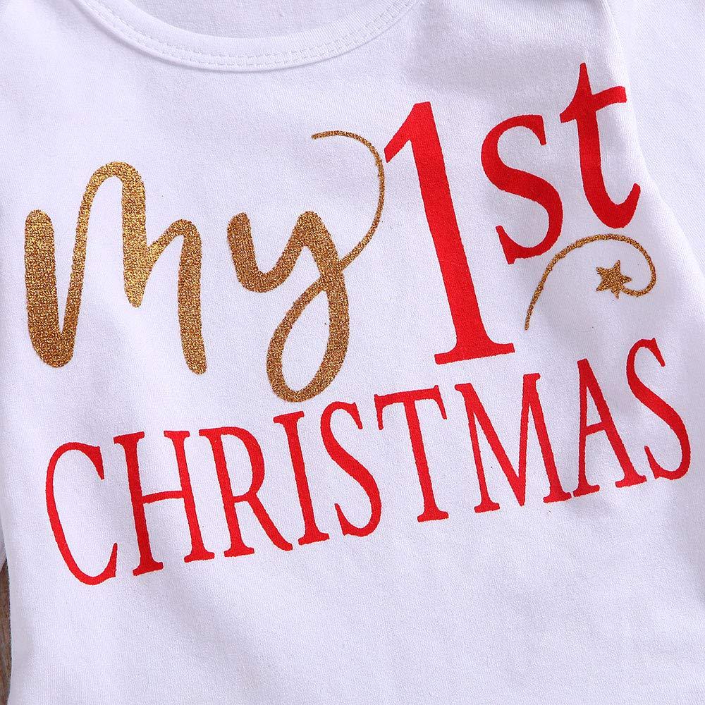 Diadema Calcetines Navidad Conjunto Ropa para Reci/én Nacido Beb/é 0-24 Meses Tutu Falda Disfraz Navidad Bebe Ni/ña MY 1st Christmas Monos Tops