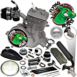66/80cc Flying Horse EPA Approved Silver Angle Fire 2-Stroke Motorized Bicycle Engine Kit- the Only Engine on the Market Certified by the E.P.A. of the United States