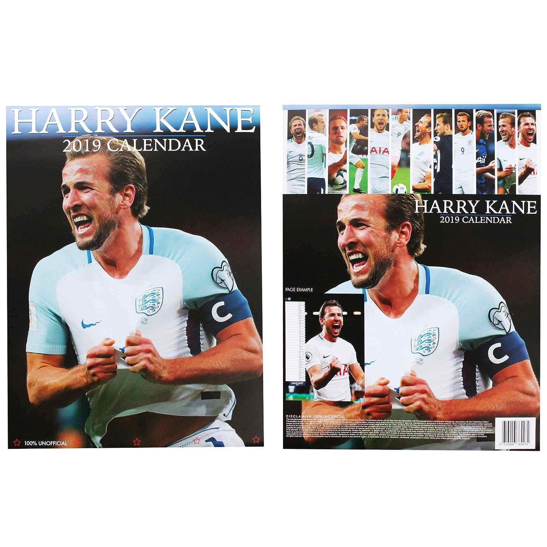 HARRY KANE Full Colour England Captain /& Goal Machine 2019 Calendar A3 420mm x 297mm
