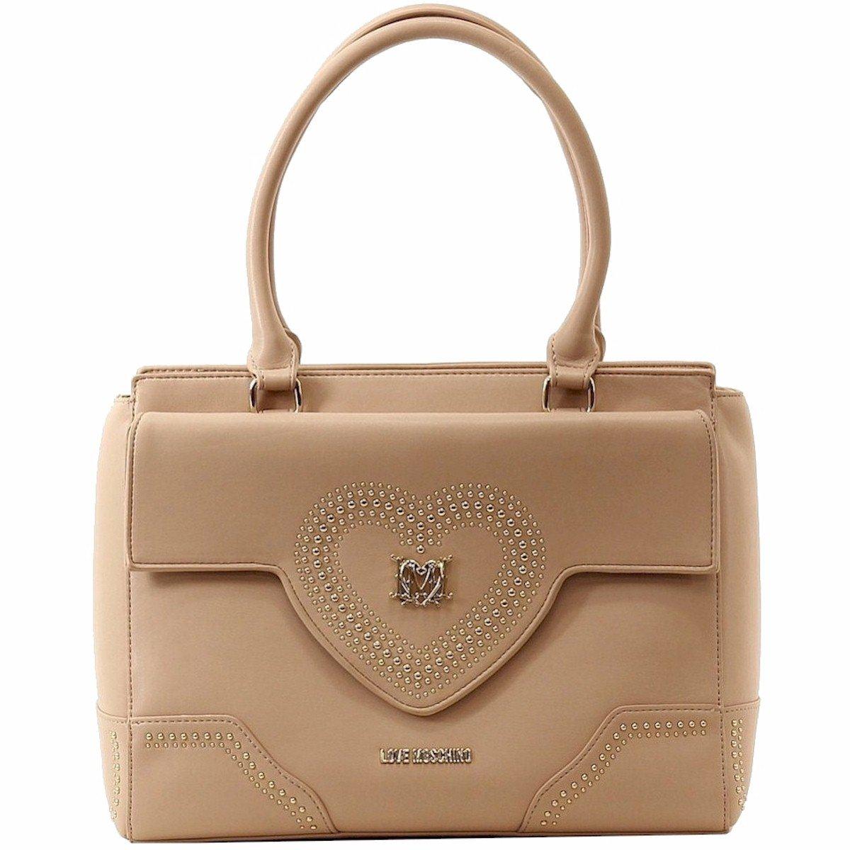 Love Moschino Women's Powder Heart Shoulder Satchel Handbag