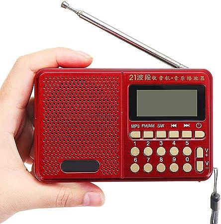 IOIOA Radio portátil FM/Am/SW 21 Bandas Digital tecla de ...