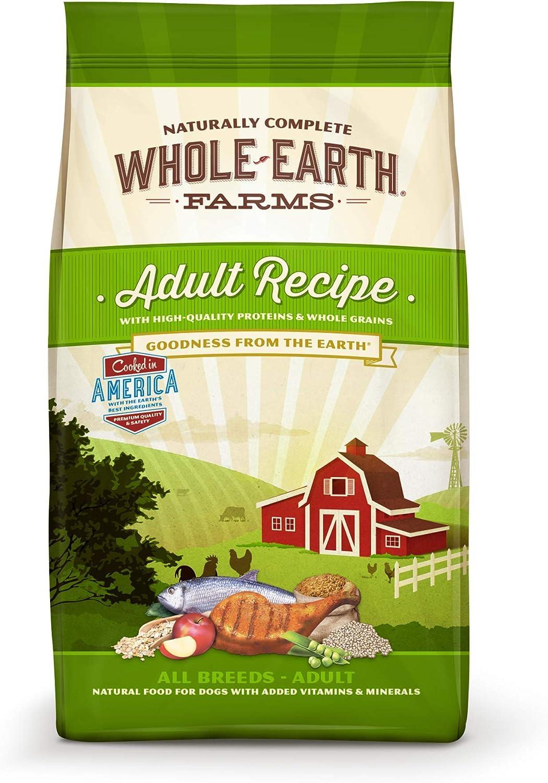 Whole Earth Farms Natural Dry Dog Food; Adult Recipe