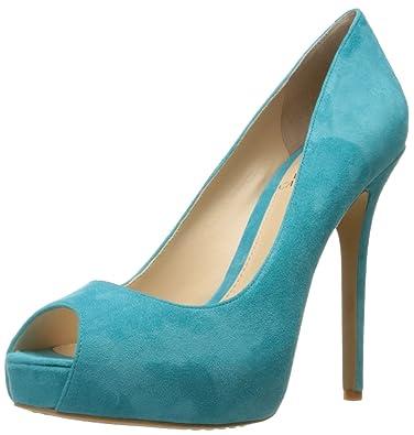 684d0f4c2784 Vince Camuto Women s Lorimina Platform Pump Turquoise Caicos 7.5 ...
