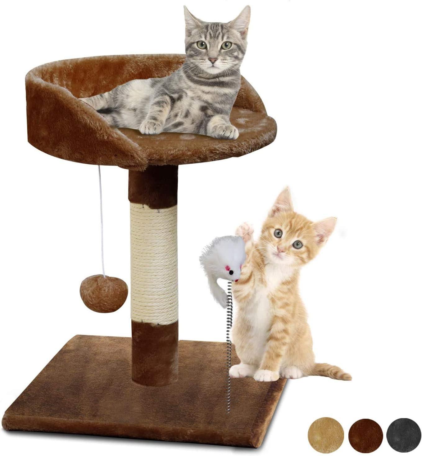 Cat Toy Centro de Actividad para Gatitos Marr/ón KORIMEFA Rascadores para Gatos /Árbol para Gatos Ara/ñazo Gatos Juguetes de Sisal Natural