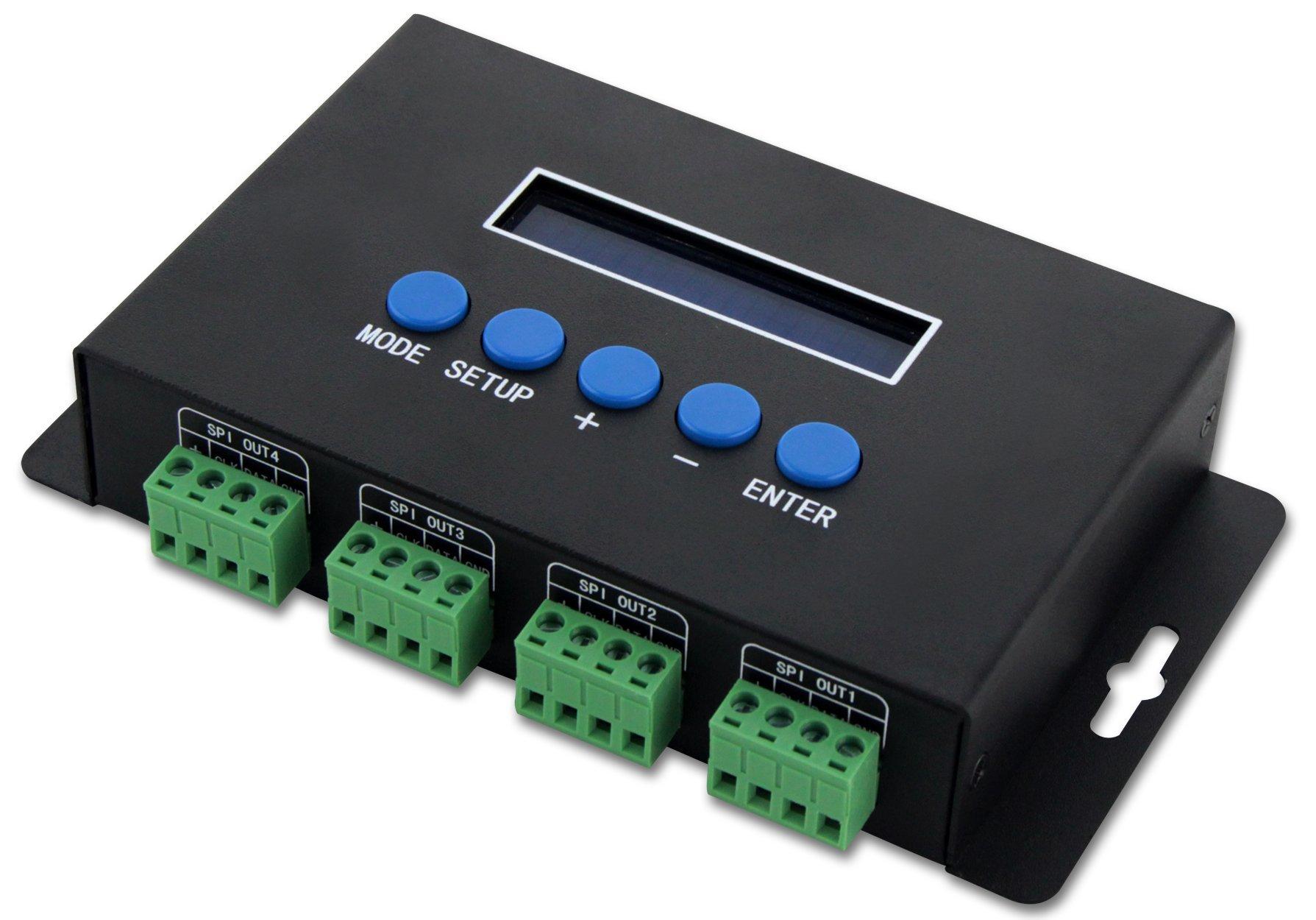 Artnet to TTL SPI Controller / Ethernet-SPI/DMX Pixel light controller 680 Piexl/CH 4CHx7A for large project
