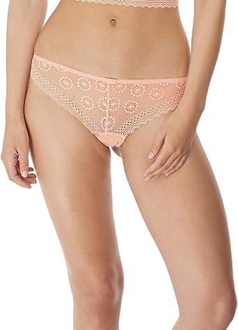 Freya Womens Love Note Cheeky Low Rise Brazilian Thong Panties