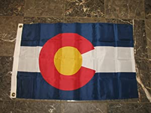 2x3 Colorado State Nylon Flag 2'x3' Banner Brass Grommets PREMIUM Vivid Color and UV Fade BEST Garden Outdor Resistant Canvas Header and polyester material FLAG