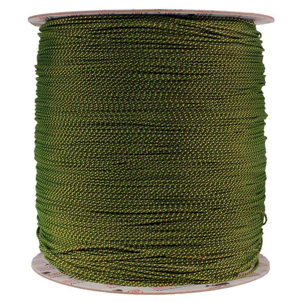 PARACORD PLANET 1.8 MM Dyneema Speed Lace - 10 Feet - Brown & Lime Green Color - Unbreakable and Lightweight Fiber
