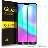 KuGi Honor 10 Screen Protector, 9H Hardness HD clear Bubble Free Installation High Responsivity Easy Installation Tempered Glass Screen Protector for Honor 10 smartphone. Clear [2 PACK]