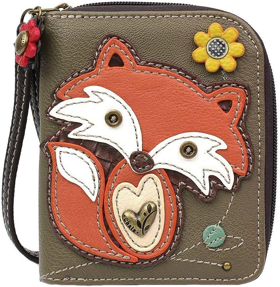 Chala Fox Zip-Around Wallet/Wristlet, Gift for Fox Lovers