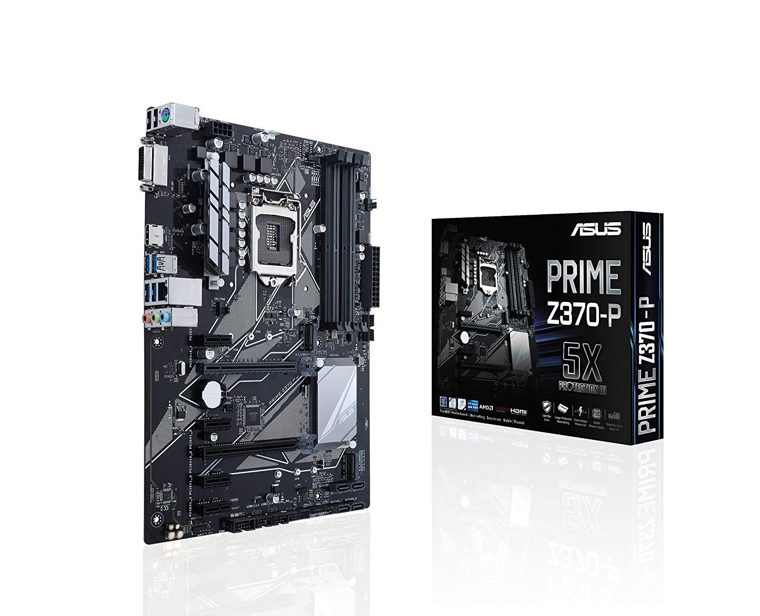 Asus Prime Z370 P Lga1151 Ddr4 Hdmi Dvi M2 Atx Diagram Of Computer Components Mouse Monitor Cpu Etc Motherboard With Usb 31 For 8th Generation Intel Core Processors Computers Accessories