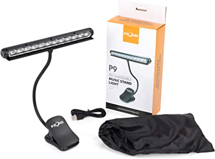 Fzone P9 12 Led Clip On Music Stand Light Amazon Co Uk Musical Instruments