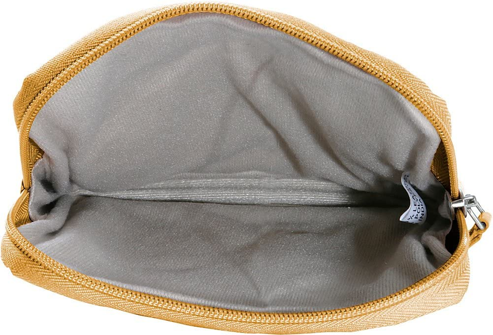 Premium Leather Accessory Pouch Color Black