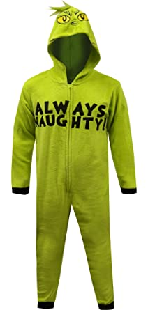 b41af9f1ac Amazon.com  Dr Seuss Grinch Always Naughty One Piece Pajama Men ...