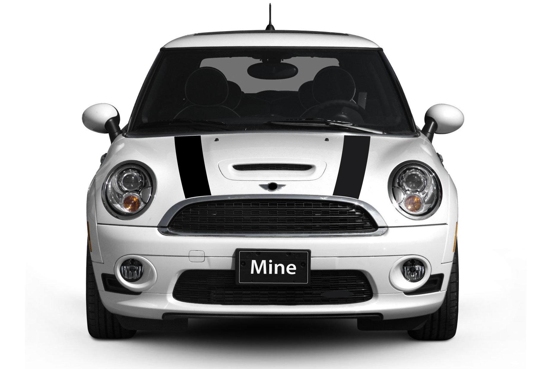The Pixel Hut gs00064 Black Hood Stripes for MINI Cooper and S R56 (2007-2013)