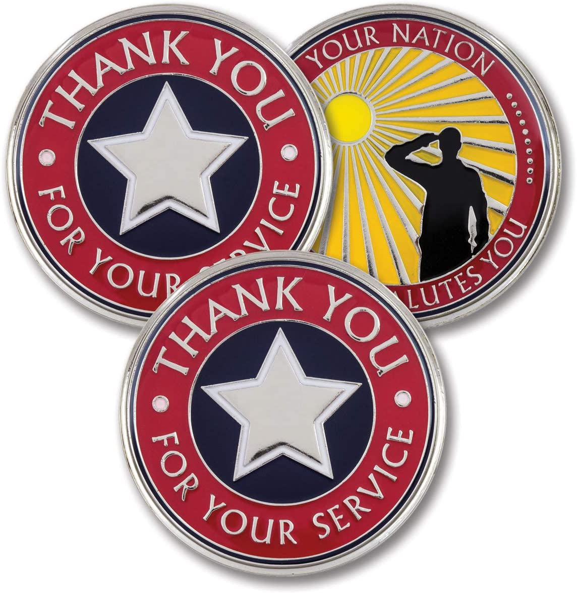 Amazon Com Thank You For Your Service Military Appreciation Coins Attacoin Veteran Gift Series 3 Pack Office Products