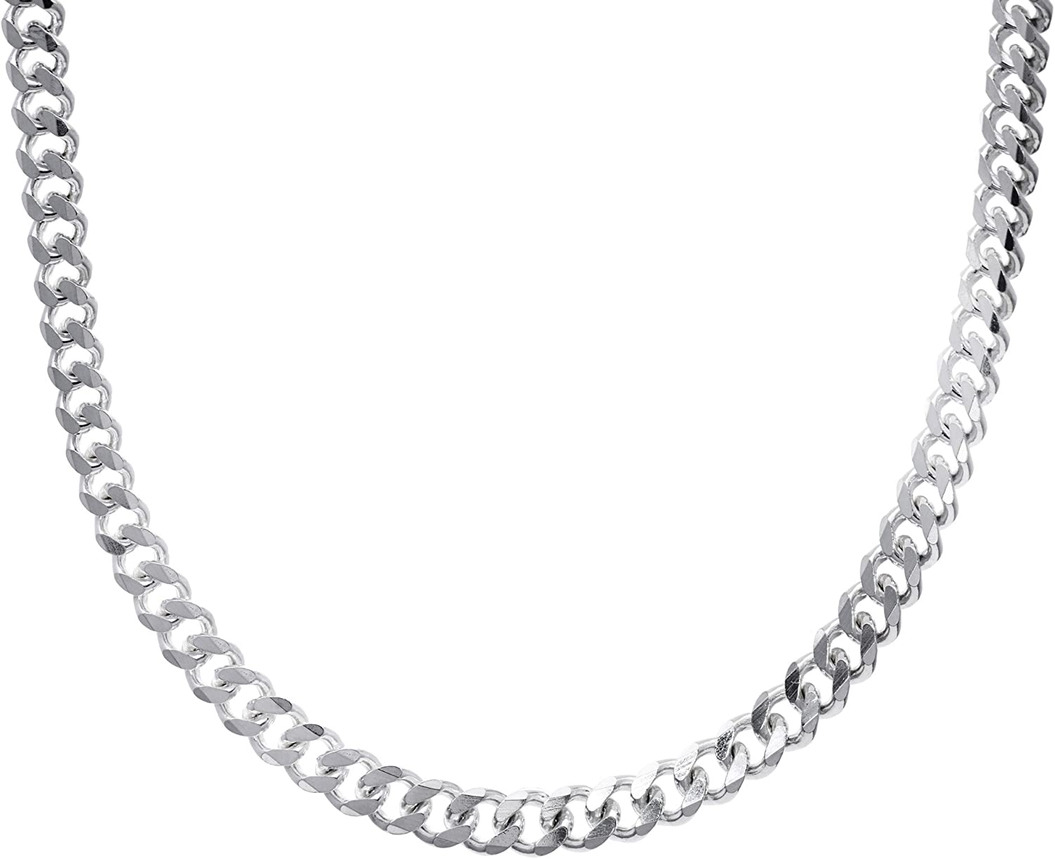 Necklace 16 18 20 22 Inches jewellerybox 925 Real Sterling Silver Flat Trace Chain