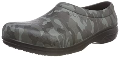 794361cfb39342 Crocs Unisex Adults  On The On The Clock Graphic Work Slip-on Clogs ...