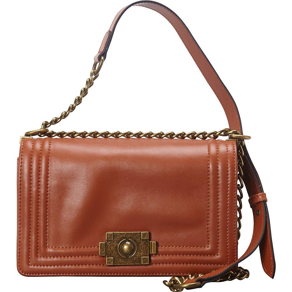 Donna Bella Designs Brooklyn Leather Shoulder Bag, Brown