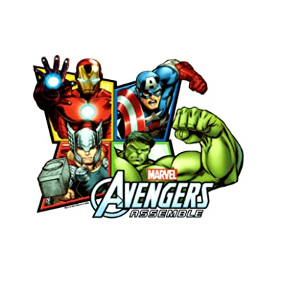 """Avengers Assemble Edible Cake Cupcake or Cookie Image Topper (6"""" Round): Grocery & Gourmet Food"""