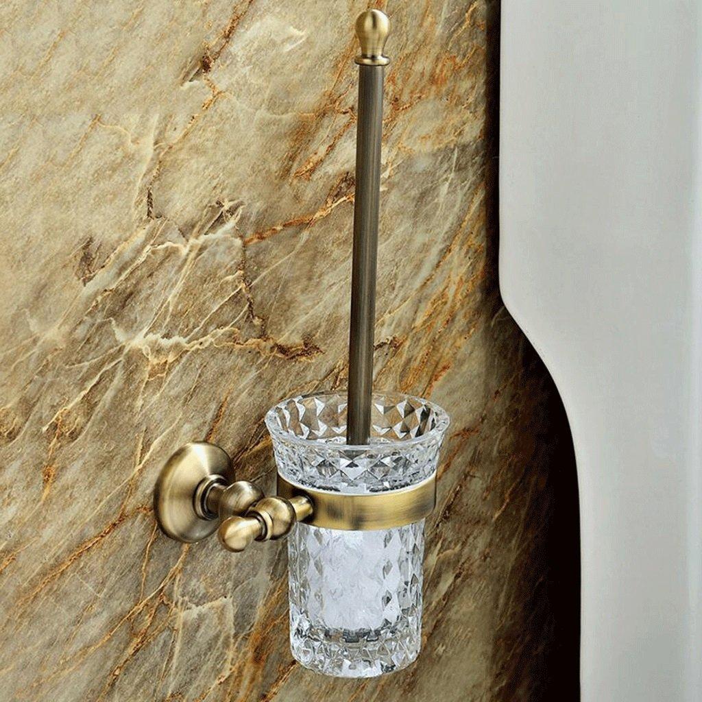 トイレブラシ シンプルな高級ウォールマウント純銅トイレトイレブラシバスルームトイレブラシホルダークリスタルトイレブラシカップバスルームハードウェアアクセサリー   B07CB4LGT5