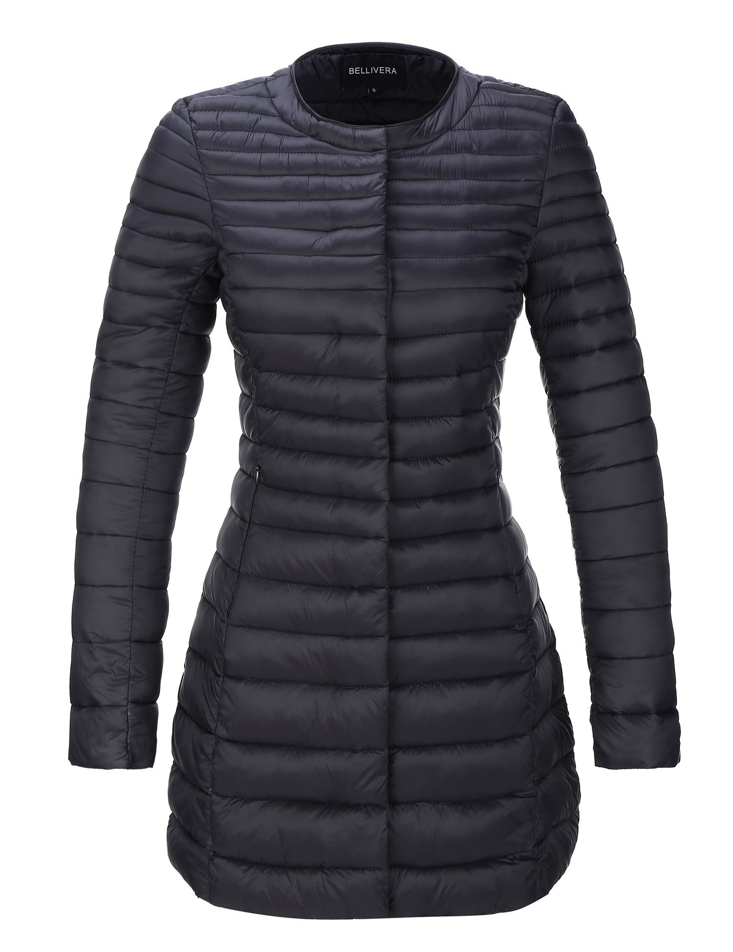 Bellivera Women's Quilted Lightweight Padding Jacket, Puffer Coat Cotton Filling Water Resistant for Fall and Winter by Bellivera