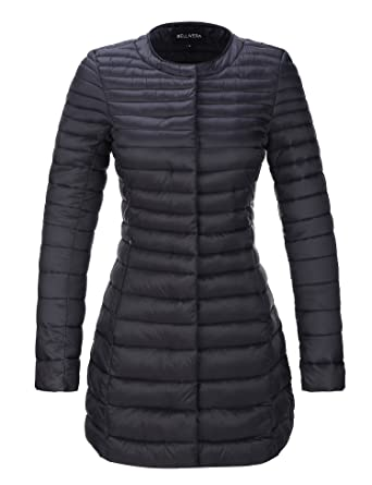 4755f05db013 Amazon.com: Bellivera Women's Puffer Jacket for Spring and Fall, Quilted  Lightweight Coat with 2 Pockets,Cotton Filling,Water Resistant: Clothing
