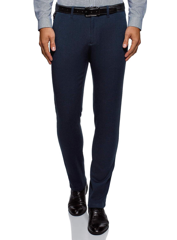 TALLA ES 38 (S). oodji Ultra Hombre Pantalones Chinos con Cadena