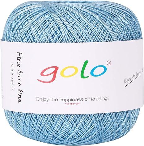 Hilo de algodón de ganchillo de 400 yardas, 100% algodón de tamaño 8 hilos de algodón para tejer ganchillo, punto de cruz, bordado, a mano: Amazon.es: Juguetes y juegos