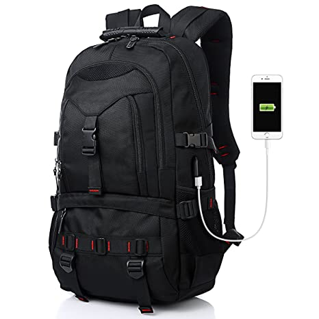 7c5cdf4cabf2 Tocode Fashion Laptop Backpack Contains Multi-Function Pockets, Durable  Travel Backpack with USB Charging Port Stylish Anti-Theft School Bag Fits  17.3 ...