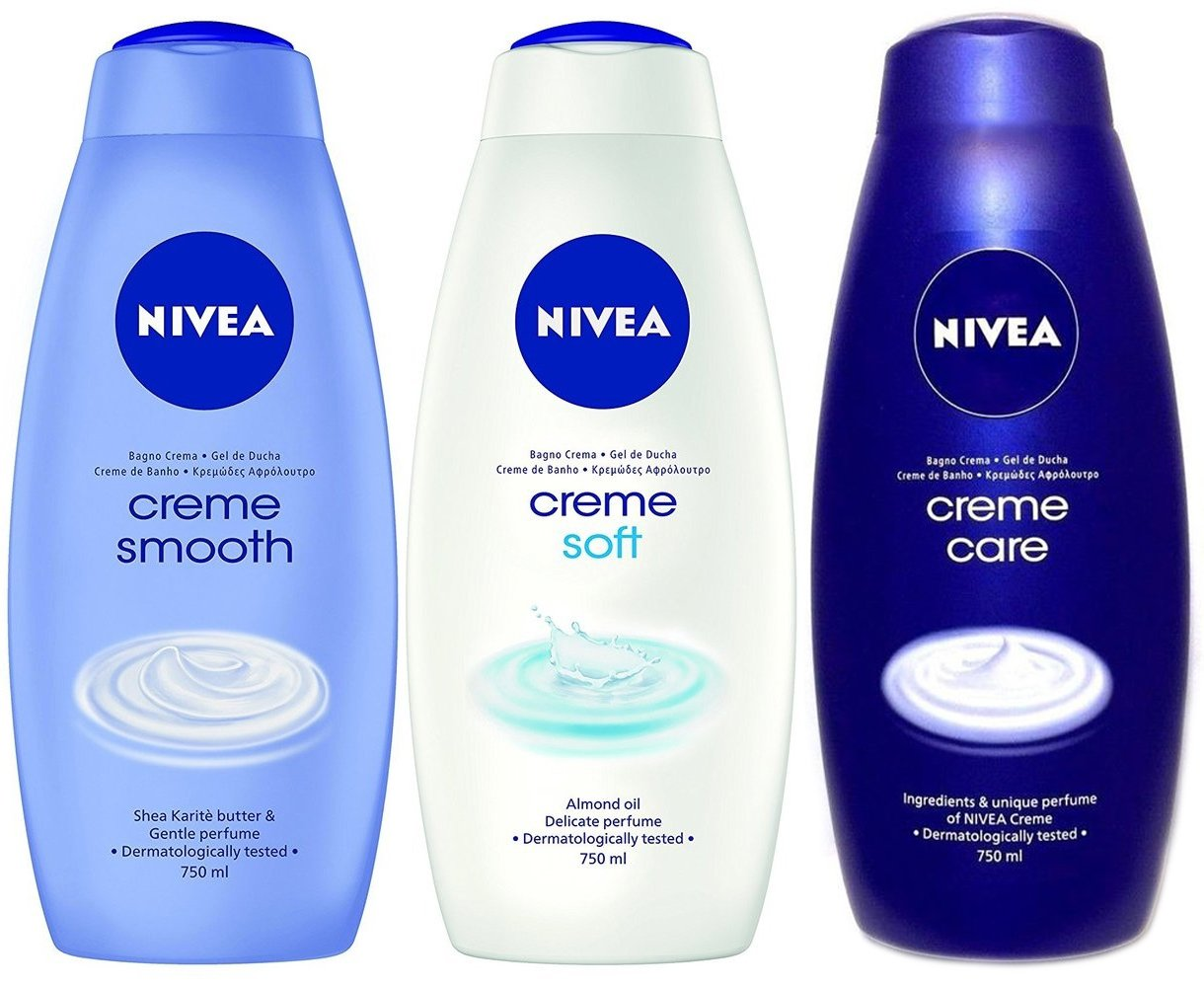 Amazon.com   Nivea Shower Gel Creme Assorted Scents 750 ml Each Pack of 3    Grocery   Gourmet Food bc62d1c1fa7e