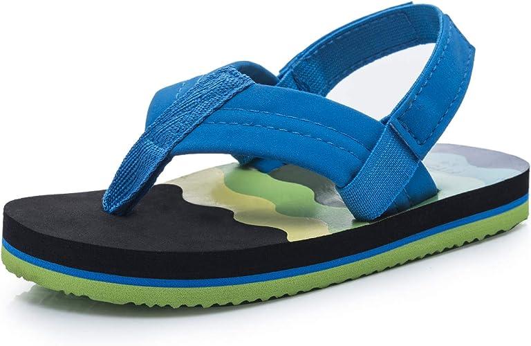 Boys Girls Flip Flops Sandals with Back