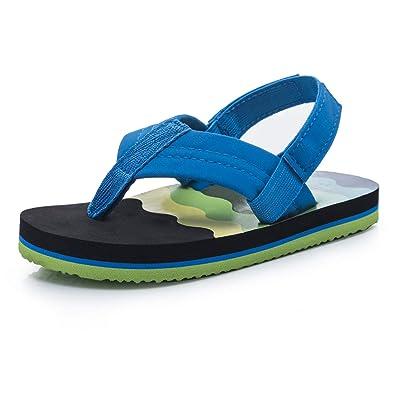super service durable in use professional sale Boys Flip Flops Sandals with Back Strap for Toddler/Little Kid/Big Kid