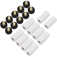 OCR - Puntas de repuesto para tacos de billar (10 unidades, 13 mm), color gris