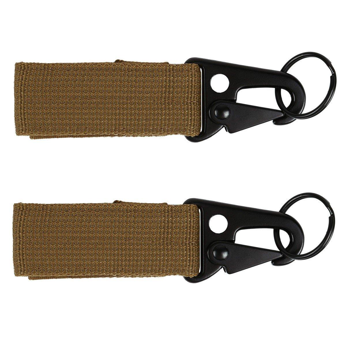 iiniim Tactical Gear Clip Band Gear Keeper Pouch Key Chain Nylon Belt Keychain EDC Molle Webbing Key Ring Holder Military Utility Hanger Keychain Hook