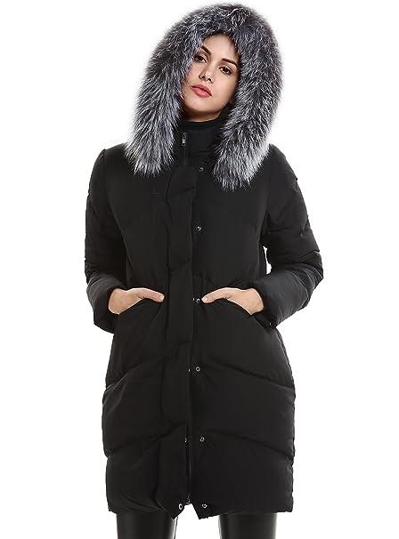 sneakers for cheap 36316 8937f Escalier Donna Inverno giù cappotto piume d'anatra bianca ...