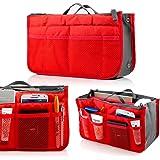 GEARONIC TM Lady Women Travel Insert Organizer Compartment Bag Handbag Purse Large Liner Tidy Bag - Red