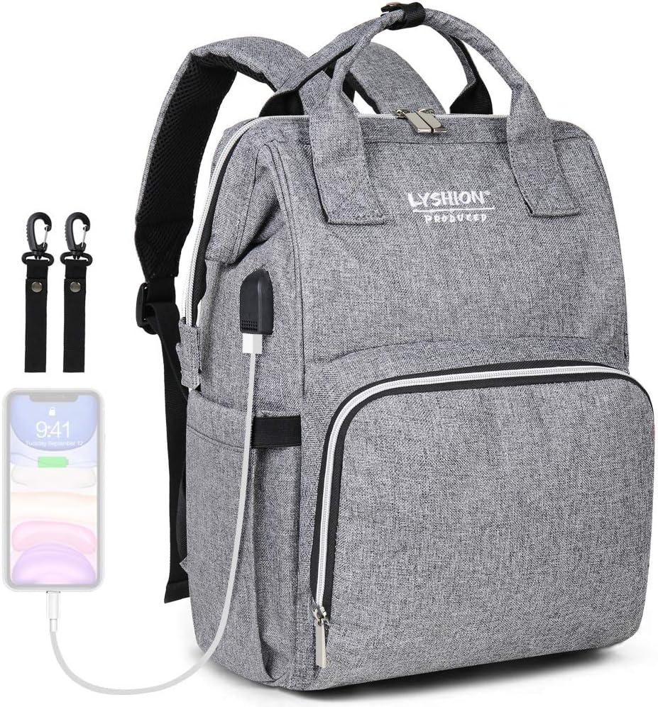 Sac /à langer pour b/éb/é Sac /à couches multi-fonction Sac de maternit/é de voyage /él/égant Sacs de couches pour b/éb/és avec port de chargement USB pour maman /& papa