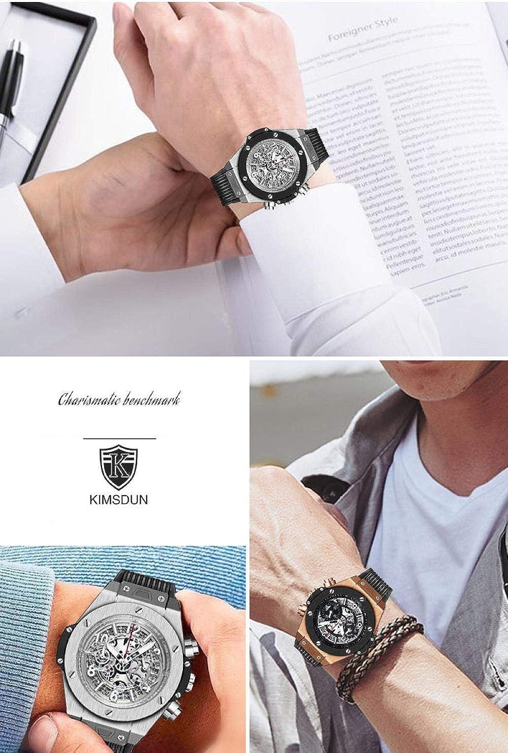 Montres Bracelet,Montre À Quartz Calendrier Calendrier De La Mode De Sport en Silicone Rose Gold Shell Black Circle Black Surface
