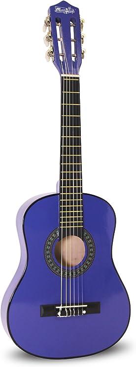 Music Alley Junior Guitarra acústica clásica de niños, color Azul ...
