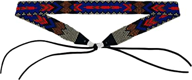 Mayan Arts Cowboy Western Beaded Hat Band Turquoise Handmade in Guatemala 7//8 x 21.5 Inches Aztec Designs
