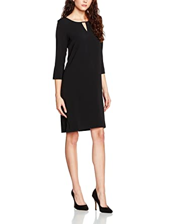 TOM TAILOR Damen Kleid Easy Modern Dress, Schwarz (Black 2999), 42 (