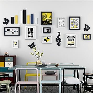 LIYONGDONG® Bilderrahmen Wand Wohnzimmer Hintergrundwand Wand Dekoration  Modern Einfach Zuhause Schlafzimmer Korridor Wandbild,D